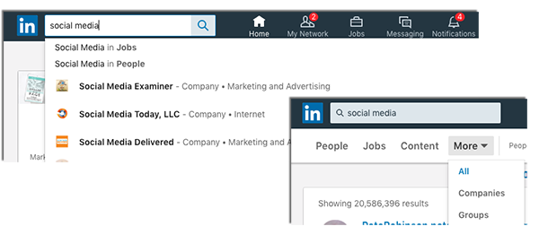 Find your clients on social media site LinkedIn
